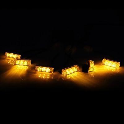 36 X LED w/ 18 X LED Emergency Vehicle Strobe Lights for Front Grille Deck Warning Light