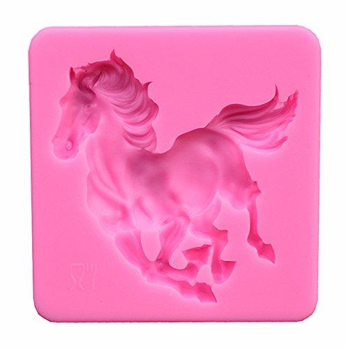 Runloo - Stampo in silicone per fondente a forma di cavallo