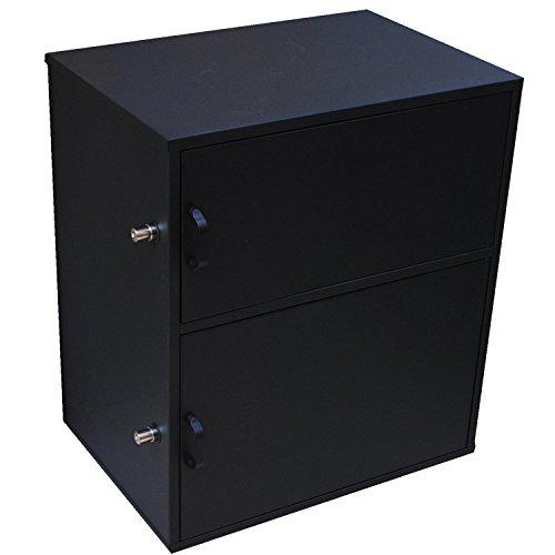 フォルディア(Foldea) 宅配ボックス 戸建て用 2BOXタイプ 完成品 盗難防止ワイヤー付き ダイヤル南京錠付き 印鑑収納 個人宅 鍵付き 21.6L 30L 10kg 30kg WKS382