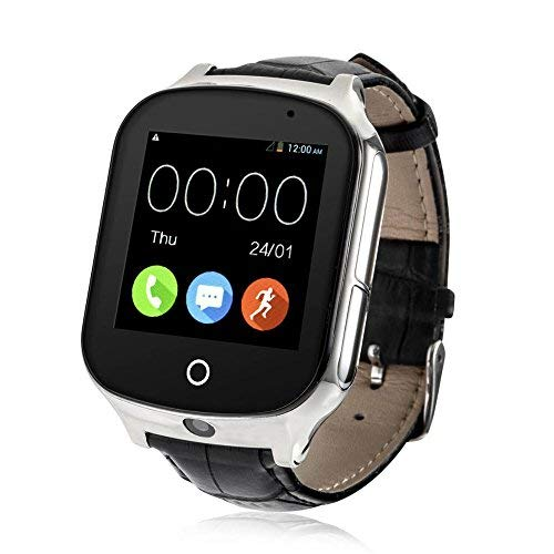 Laxcido 3G WiFi Phone Call GPS Smart Watch, Real-time Tracking GPS Tracker Watch, Geo-Fence Elderly GPS Watch Touch Screen Camera Step Counter SOS Alarm Anti-Lost Watch for Dementia Alzheimer's.