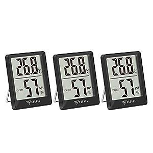 【Alta precisione & risposta rapida Termometro da interno 】 Con risposta rapida che si aggiorna ogni 5 secondi. Questo termometro ambiente interno DOQAUS fornisce letture accurate e con un ampio intervallo di misurazione, che misura la temperatura: -5...