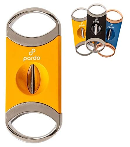 Pardo V Cutter, Metal V-Cut Cutter with Gift Box (Yellow and Silver)