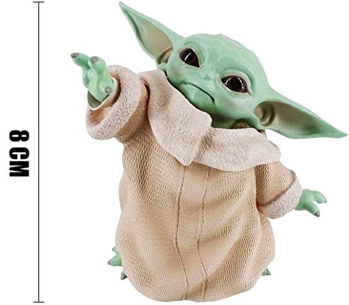 XG-BH 15 Cm Star Wars Baby Yoda Peluches Los Juguetes Mandalorianos para Niños Muñeco De Peluche Muñeca De Trapo Bebé,8cm