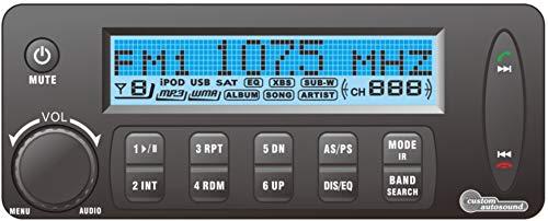 Custom Autosound NEW Bluetooth SECRETAUDIO SST-V Remote Control Hidden Stereo + FREE Hidden Antenna 200 watt amp, Auxiliary In, MP3/WMA, USB LCD Display Secret Audio SST Radio with Integrated Blue Too