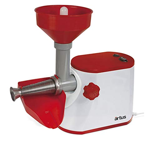 Artus S15 Eléctrico Para Triturador de Tomate Firme 300 W, Color Blanco...