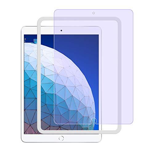 ブルーライトカット NIMASO ガラスフィルム iPad Air 3(2019) /Pro 10.5 用 保護 フィルム ガイド枠付き