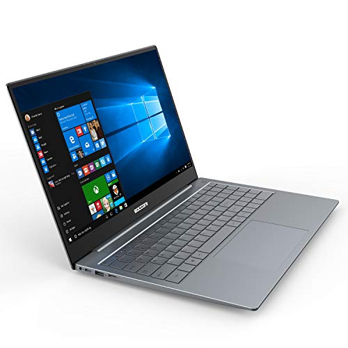 """BOCCONI 15.6"""" Ultra-Thin Windows 10 Laptop Full HD 1920x1080 IPS Display Metal Case Traditional Laptops Intel N3450 6GB RAM 128GB SSD Notebook Computers for Working School Students Office Business"""