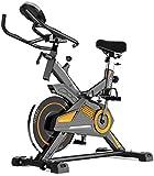 Bicicleta de ejercicio sentada, con pedal estacionario, resistencia ajustable con monitor de frecuencia cardíaca, monitor que muestra velocidad, distancia, calorías y pulso