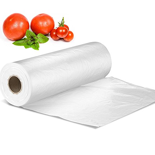"""12"""" X 16"""" Plastic Produce Bag on a Roll, Bread and Grocery Clear Bag, 350 Bags/Roll"""