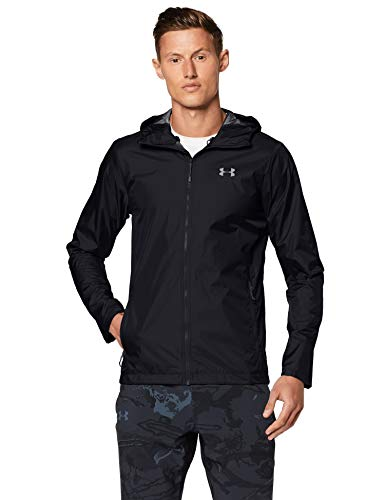 Under Armour Herren Forefront Rain Jacke, Schwarz, Large