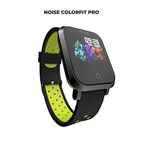 Noise ColorFit Pro Fitness Watch/Smart Watch/Activity Tracker/Fitness Band with Colored Display Waterproof, Heart Rate Sensor, Call & Notification Alert with Music Control Features (Sport Green Black)