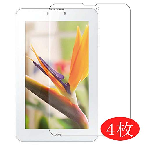 4-Pack Vaxson Screen Protector Compatible with HUAWEI MediaPad 7 Vogue S7-601W 3G S7-602U S7-601U, Ultra HD Film Protector [NOT Tempered Glass] TPU Flexible Protective Film