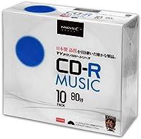 【100枚セット】HI-DISC 音楽用CD-R 80分 48倍速対応 ワイドプリンタブル白 10枚パック×10個