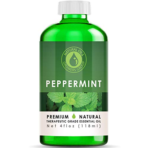 4 oz - Peppermint Essential Oil - Therapeutic Grade Peppermint Oil - 4 Ounce Bottle