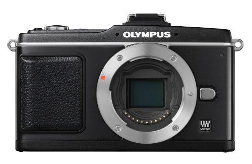 Olympus Pen E-P2 Systemkamera (12,3 Megapixel, 7,6 cm Display, Bildstabilisator) Gehäuse schwarz