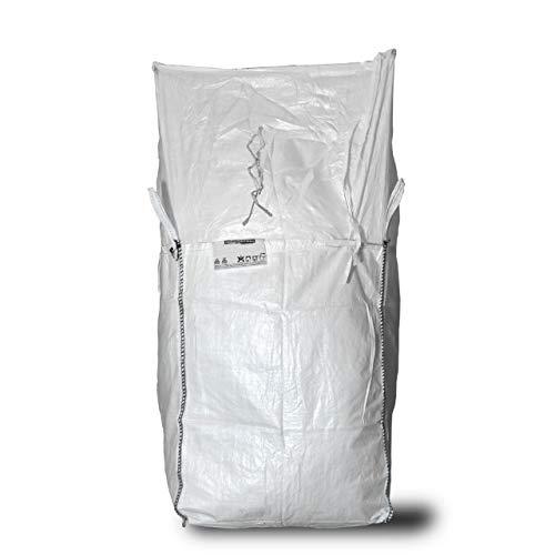 Asup Big Bag 90 x 90 x 130 cm, tapa del delantal, SWL 1.250 kg, bolsillo para documentos.