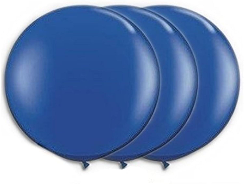 36 Inch Latex Balloon Dark bluee (Premium Helium Quality) Pkg 3 by Balloon Emporium