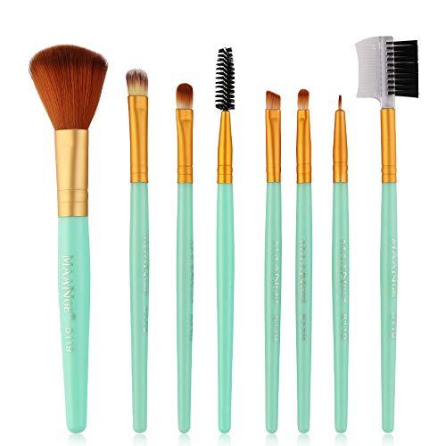 8pcs / set pinceau de maquillage de salon | Trousse de beauté 8 brosses | Ombre à paupières, cils, blush, eye-liner | Maquillage contour de visage