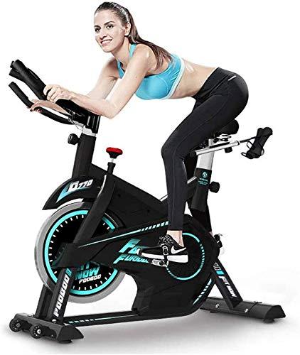 Wghz [Promoción 2021] Bicicleta estática, Bicicleta de Ciclismo para Interiores estacionaria, Cojín de Asiento cómodo, Manillar con agarres múltiples, Bicicleta estática silenciosa y Rodillo móvil