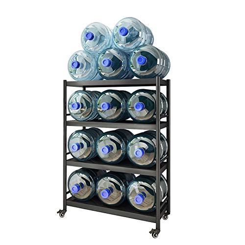 LKH Estanterías De Metal, Carrito De Microondas Enrollables sobre Ruedas, Estanterías Abiertas/Estanterías para Cocina/Oficina, Fuerte Capacidad De Carga(Size:61×39×110cm,Color:4 Tier)