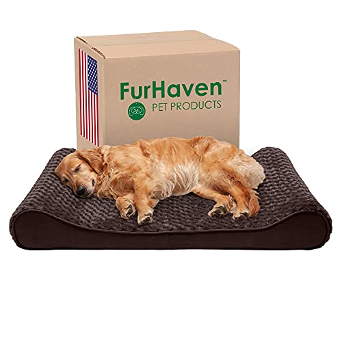 Furhaven Therapeutic Ergonomic Luxe Lounger