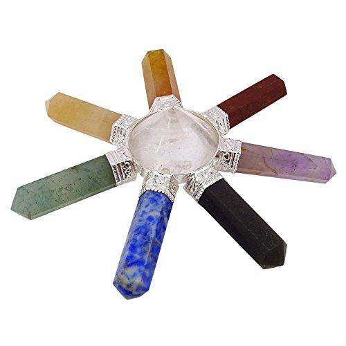 Harmonize 7 Puntos De Chakra Pirámide Generador De Energía Sagrada Aura Curativo De Cristal Divinas