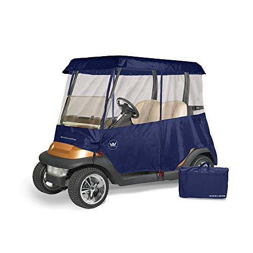 Greenline 2 Drivable Golf Cart Enclosures by Eevelle, Heavy Duty 300D 2 Passenger Universal Fit