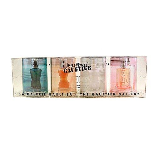 Jean Paul Gaultier Collection 4 Piece Mini Gift Set for Men, 0.12 Ounce (0.12 Ounce Mini Cologne)