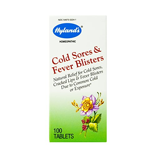 Cold Sore, Canker Sore, and Fever Blister, Homeopathic Treatment Medicine by Hyland's, 100 Tablet