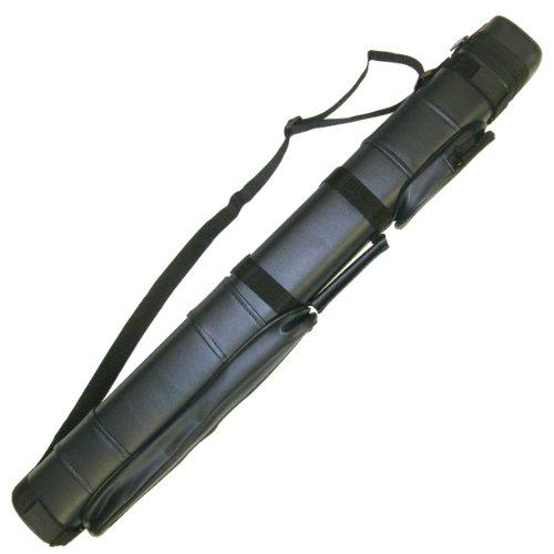 2x2 Hard Pool Cue Billiard Stick Carrying Case, Black