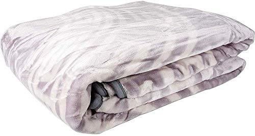 Dekonaz Wool Deken sprei voor 2 Persoon Polyester Wit Grijs
