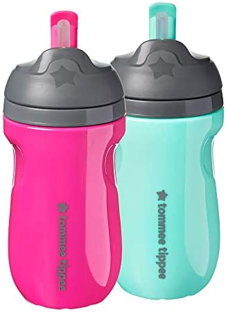 Tommee Tippee Insulated Straw Toddler Tumbler Cup 12 Months 2pk product image