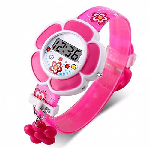 MOVKZACV Reloj de pulsera digital con forma de flor para niños, relojes de pulsera para niños y niñas