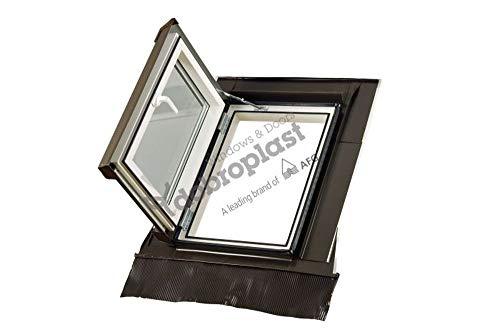 Skylight Loft - Ventana para techo (55 x 78 cm, plástico, con marco de techo)