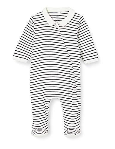 Petit Bateau Dors-Bien gestreift Baby in Küste Gr. 74, Marshmallow/Smoking