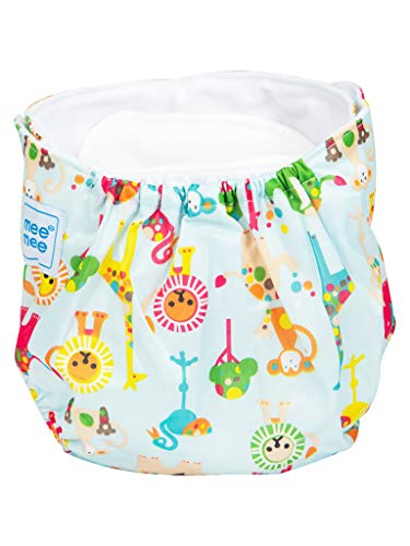 Mee Mee Reusable Baby Cloth Diaper with Adjustable Snap Buttons (Blue) (Baby Product)