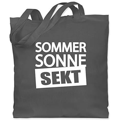 Shirtracer Festival - Sommer Sonne Sekt - Unisize - Dunkelgrau - stoffbeutel sekt - WM101 - Stoffbeutel aus Baumwolle Jutebeutel lange Henkel