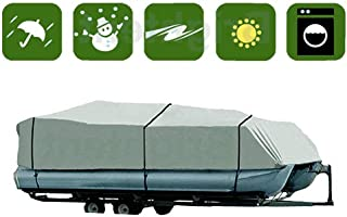 RockyMRanger 17-20 Ft and 21-24 Ft Pontoon Boat Cover Waterproof Fabric Fishing Ski Trailerable YPT2G (PT2G)