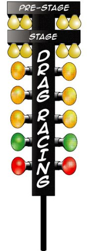 Nostalgia Decals Drag Racing Christmas Tree Decal 8' from The United States