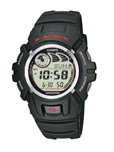 Casio G-SHOCK Reloj Digital, 20 BAR, Negro, para Hombre, G-2900F-1VER