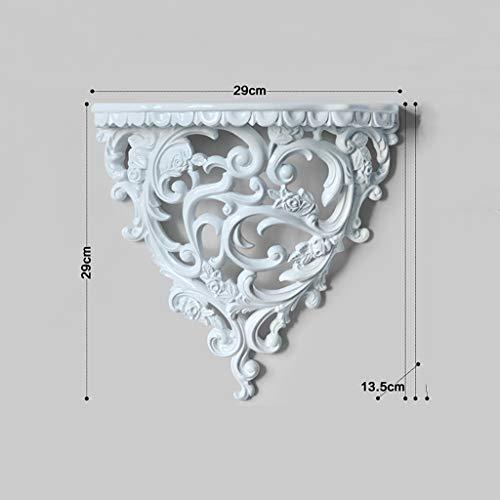 SCDZS Style Creative - Estantes de pared de resina para decoración de pared de habitación, decoración de TV (color: A)