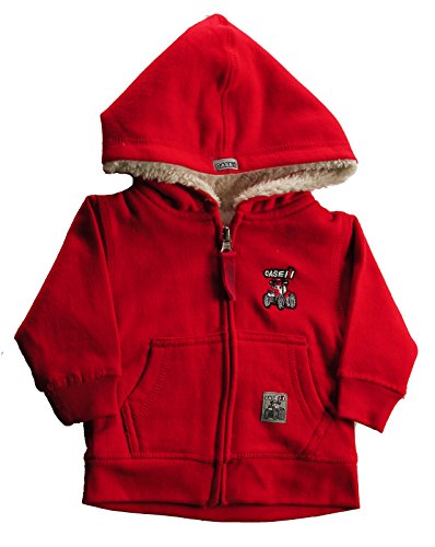 Case IH Infant Boy's Zip-Up Sherpa Hoodie, Red, Size 9M