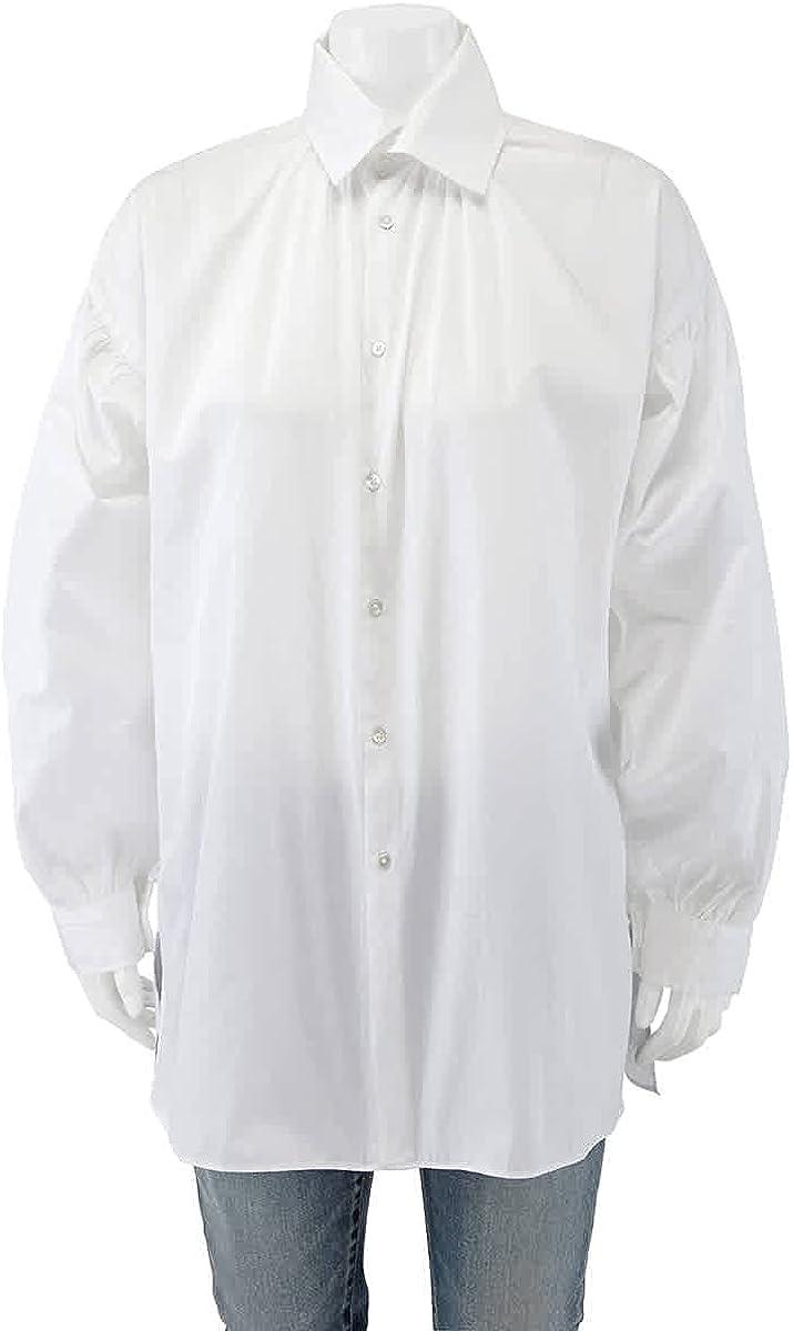 Polo Ralph Lauren Ladies White Long-sleeve Oversized Shirt, Brand Size 14