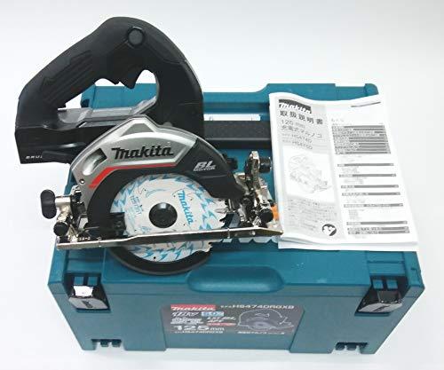 マキタ125mm充電丸のこ本体HS474DZB黒+純正収納ケース付き バッテリーと充電器別売