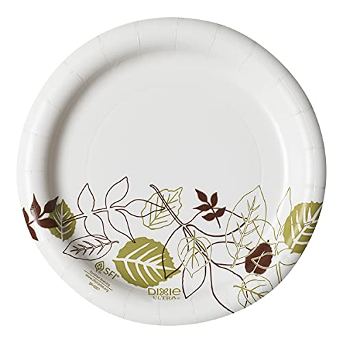 """Dixie 6 7/8"""" (17.4 cm) Medium-Weight Paper Plates by GP PRO (Georgia-Pacific), Pathways, UX7WS, 500 Count (125 Plates Per Pack, 4 Packs Per Case)"""