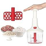 Picadora manual KKmoon 1.4L Verduras Cortador de ajos y cebollas Slap Chopper para restaurantes de cocina en casa
