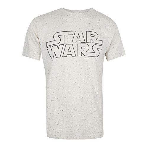 Star Wars Basic Logo Camiseta, Beige...