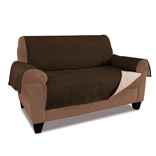 Furniture Fresh - Nouvelle Protection Améliorée Antidérapante pour Meubles avec Sangles de Mise en Place et Tissu Micro-daim Etanche, chocolat, XL Sofa