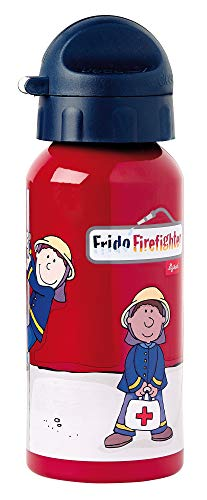 sigikid, Jungen, Trinkflasche mit Drehverschluss 0,4 l, Frido Firefighter, Rot, 24484