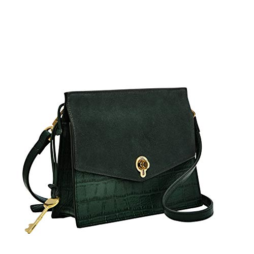 Fossil Women's Stevie Leather Crossbody Handbag, Green